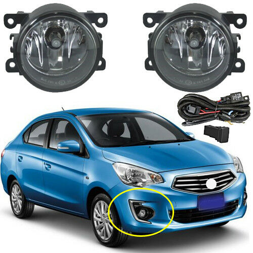 Fog Lamp Spot Light For Mitsubishi Attrage Mirage G4 Sedan 2013 2014 2015//1set
