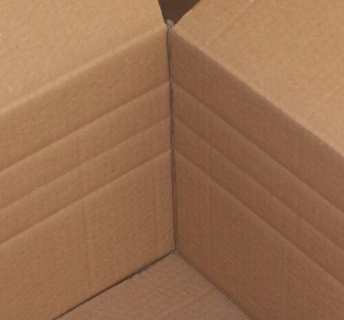 6 St Faltkarton 1200x600x250 1-wellig braun C-Welle mit Höhenrillung Versandbox