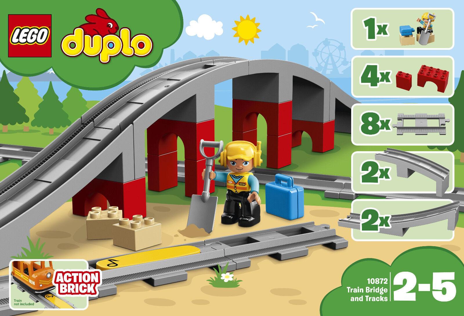 Lego Duplo 10872 - Puente Del Ferrocarril y Raíles, Raíles, Raíles, Nuevo Embalaje Original  El nuevo outlet de marcas online.