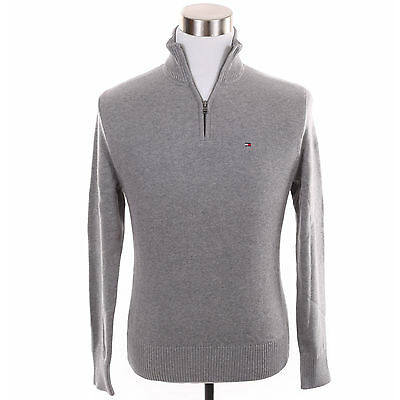 Tommy Hilfiger Men 1/2 Half Zip Mock Turtle Neck Solid Sweater -Free $0 Shipping