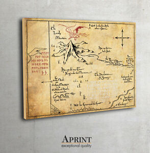 The HobbitThorins Map Map of Erebor fan art Lord of The Rings