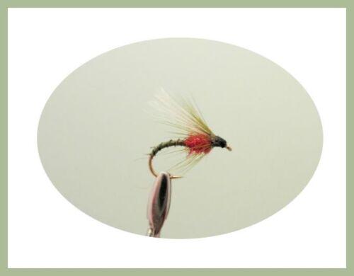 trota mosche per pesca con la mosca tre dimensioni Emerger mosche CONFEZIONE 18 COLORI MISTI