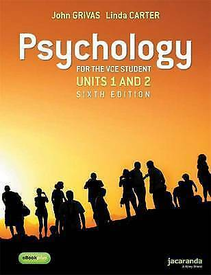 Psychology for the VCE Student Units 1&2 6E by John Grivas & Carter. Free post