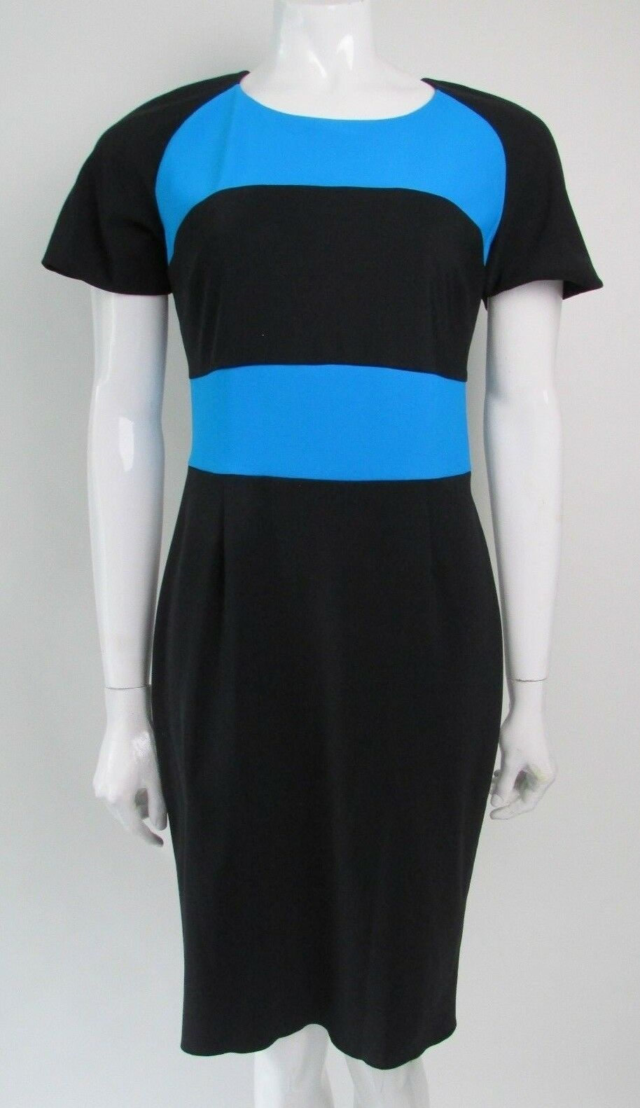 PINKO SIZE 14 UK PANELLED STRIPED DRESS AUTHENTIC MADE IN ITALY