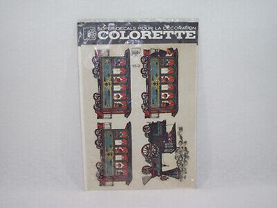 Planche Vintage Décalcomanie Train Colorette Bsb 153 Super-decals Décoration Lieve E Dolce