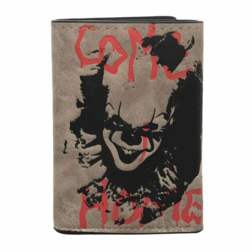 Se Pennywise Payaso Tri-fold wallet con cadena-Horror Merch
