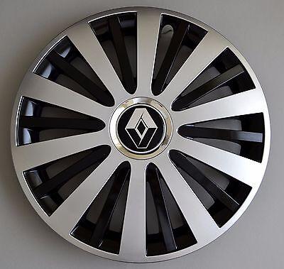 "15"" Renault Master, Modus, Kangoo, Ecc. Copricerchi/coperchi, Tappi, Black & Silver-angoo,etc..wheel Trims / Covers, Hub Caps,black&silver It-it Prezzo Basso"