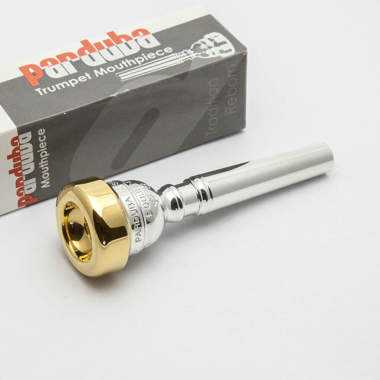 Genuine Parduba Double Cup 5 24K gold Rim & Cup Trumpet Mouthpiece NEW