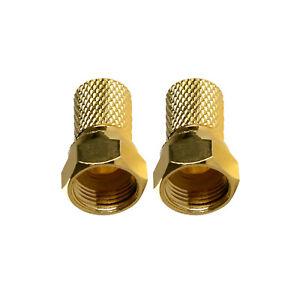 2x-TV-SAT-Twist-On-F-Stecker-Steckerlaenge-18-mm-mit-O-Ring-6-8-mm