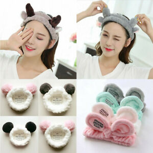 11Pattrns Korean Girl Velvet Bow Bath Shower Makeup Headband Wash Face Hair Band