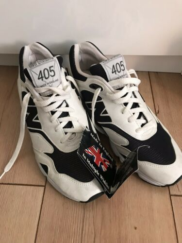 * New Balance 405 * Vintage Great Sneaker Leather White/black Size 40 New!!!
