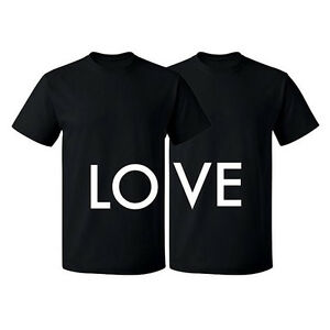 Image Is Loading Couple Matching T Shirt Love Tshirt LO VE