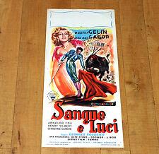 SANGUE E LUCI locandina poster Daniel Gélin  Zsa Zsa Gabor Corrida Torero G64