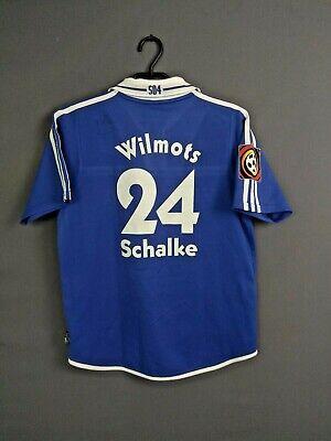 Wilmots FC Schalke 04 Jersey 2001 2002 Home Kids XL Shirt Trikot Adidas ig93 | eBay