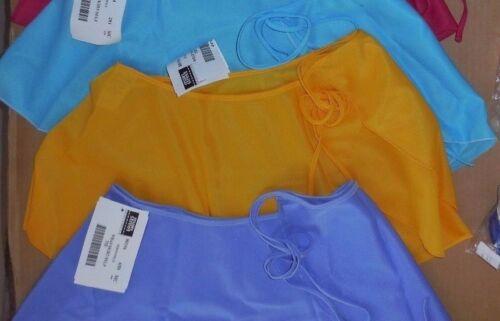 NWT Crepe Classic Wrap Skirt Ballet Dance classwear medchild slightly opaque