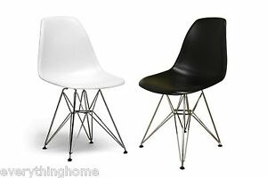 SET-OF-2-WHITE-OR-BLACK-EIFFEL-PARIS-DINING-SIDE-CHAIRS-STEEL-WIRE-LEG-BASE