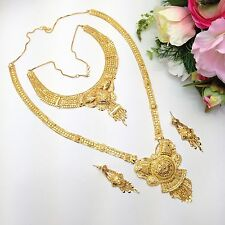 Indian Bridal Jewellery Bollywood Ethnic Wear 22ct Gold Plated Necklace Set