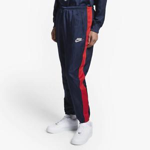 cruzar Planificado agricultores  Nike Sportswear Track Pants Blue Red Stripe AR1628 492 Loose Fit Straight |  eBay