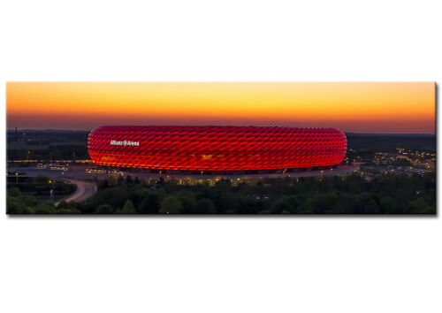 Wandbild Panorama Fussball Arena München auf Leinwand und Keilrahmen Kunstdruck