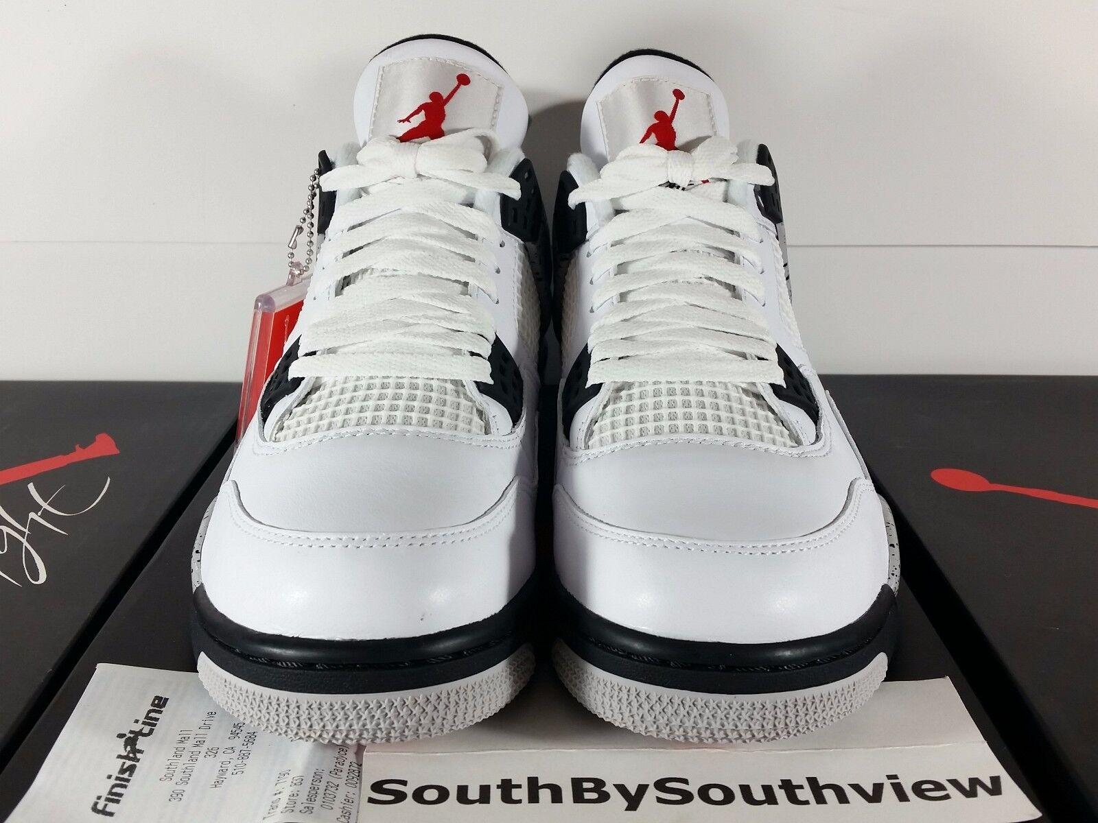 a12a8cd6467f DS Jordan Retro 4 OG Cement Sz 9.5 100 Authentic IV 2016 Nike Air 840606  192 for sale online