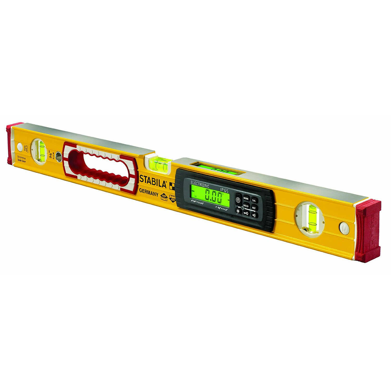 Electronic Builder Level 48in Measuring Layout Tool 3 Plumb Vial Digital Display