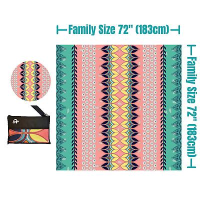 - WOW OCEAN 72x72 Microfiber Beach Towel Oversized 183cmx183cm