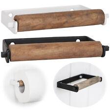 Toilettenpapierhalter WC Rollenhalter Eisen Antik Retro Handtuchhalter Schwarz