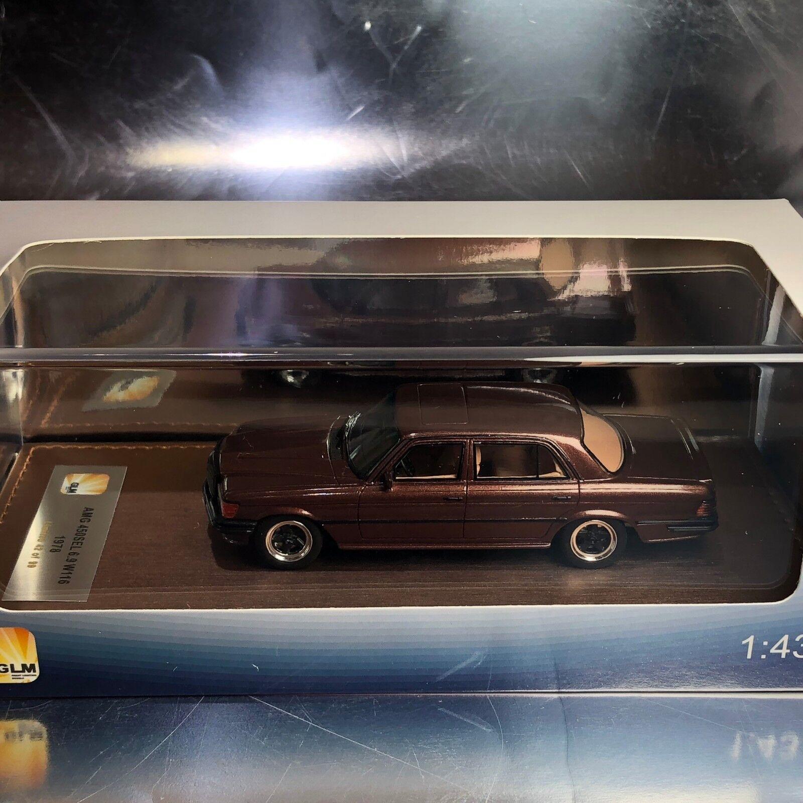 1/43 Modelo GLM206002 Mercedes AMG GLM 450SEL W116 2018 Marrón Metálico