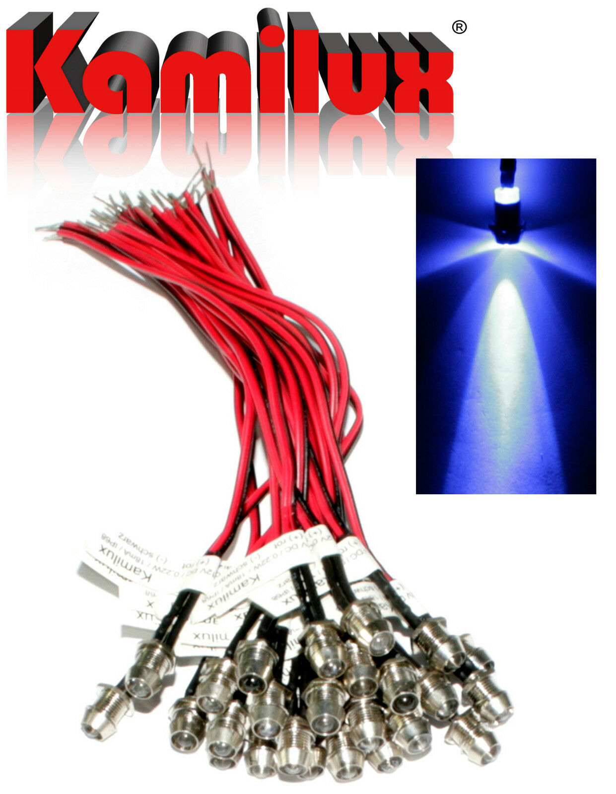 100x 100x 100x acero inoxidable mini-emisor de luz LED puntos 12v ip68 estrellas cielo & dispositivos de red b77113