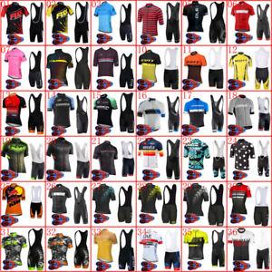 2019-Men-cycling-jersey-bib-shorts-Set-Summer-bike-Outfits-Bicycle-Sport-Uniform