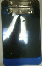 New Staples Plastic Memo Clipboards 6 X 9 Translucent Blue Amp Black 2 Pack