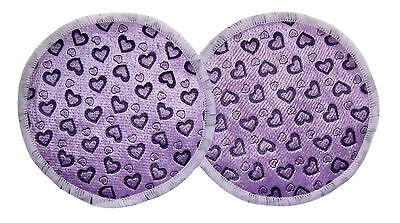 Rational 2 Pack Bamboo Reusable Breast Pads Nursing Maternity Washable Purple Hearts Reliable Performance Women's Clothing