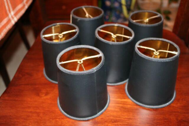 Linen Clip On Chandelier Lamp Shades, Chandelier Lamp Shades Drum Shape