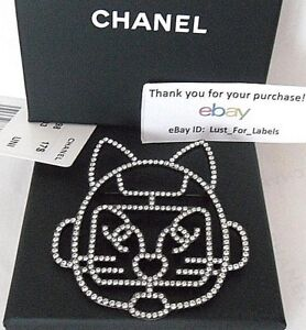 3e2707e27aaa Image is loading Karl-Lagerfeld-Choupette-Robot-Crystal-Cat-CHANEL-Brooch-
