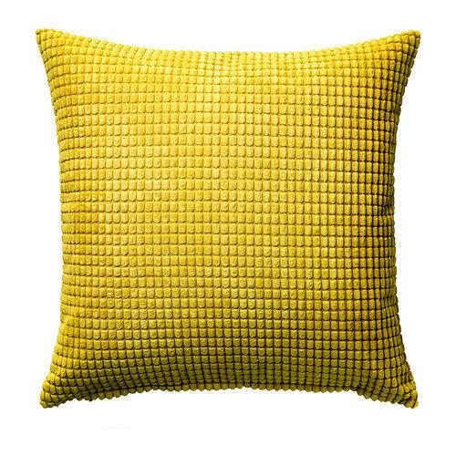 "IKEA GULLKLOCKA Cushion Cover Chenille Fabric Yellow 20 x 20 /"""