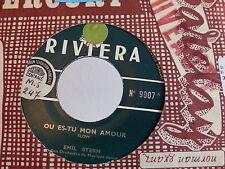 EMIL STERN Ou es tu mon amour / close your eyes RIVIERA 9007 JUKE BOX
