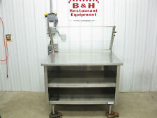 Amtekco 48 X 36 Stainless Steel Cabinet Work Prep Table With Sneeze Guard 4x3
