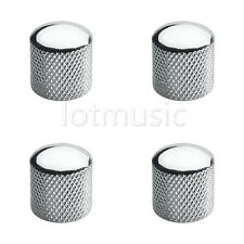 4 Pcs Brass Dome Knob for Electric Guitar or Bass Parts Chrome