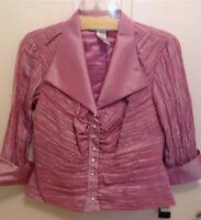 Jackie Jon Mauve/pink Lined Formal Evening Jacket Shirt Size 8p Style:922313