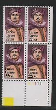 ALLY'S STAMPS US Plate Block Scott #2250 22c Enrico Caruso [4] MNH F/VF