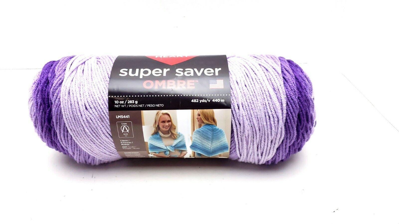 E305-3969 E305-3969 Red Heart Super Saver Ombre Yarn-Violet