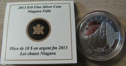 2013 Proof $10 O Canada Niagara Falls .9999 silver COIN /& COA ONLY