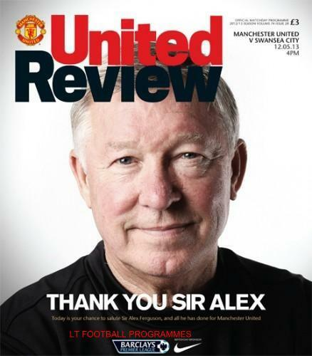 ALEX FERGUSON'S LAST HOME GAME MAN UTD v SWANSEA CITY 12th MAY 2013