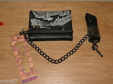 RARE HOGWARTS HARRY POTTER LEATHER WALLET WITH METAL CHAIN PARTY FAVORS