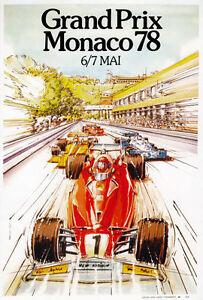 AZ11-Vintage-1978-Monaco-Grand-Prix-Motor-Racing-Poster-Art-Re-print-A4