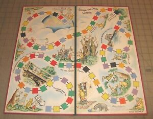 1959 WINNIE-THE-POOH Loose Board Game Board - Great Graphics Parker Brothers