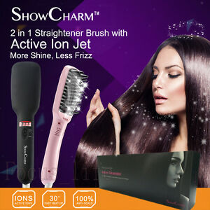 hair styling brush as seen on tv showcharm 230 176 c auto electric hair brush straightener ion 8997