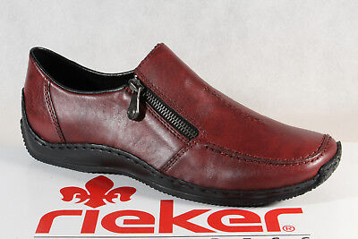 Rieker Women's Slip Ons Low Shoes, Sneakers Trainers Red Real Leather L1780 New | eBay