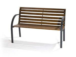 Panchine Da Giardino In Metallo.Panchina Da Giardino 2 Posti In Metallo E Legno Bertozzi New York Ebay