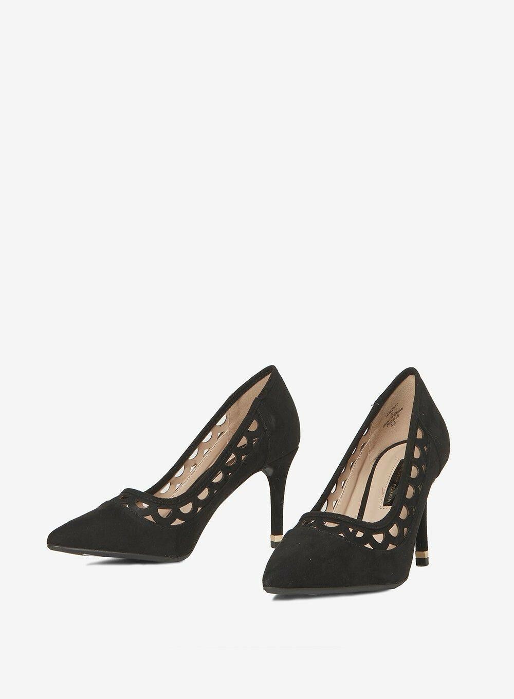 Black Graze cut out court shoes